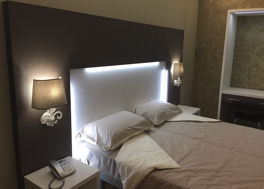 Headboard for hotel bedroom