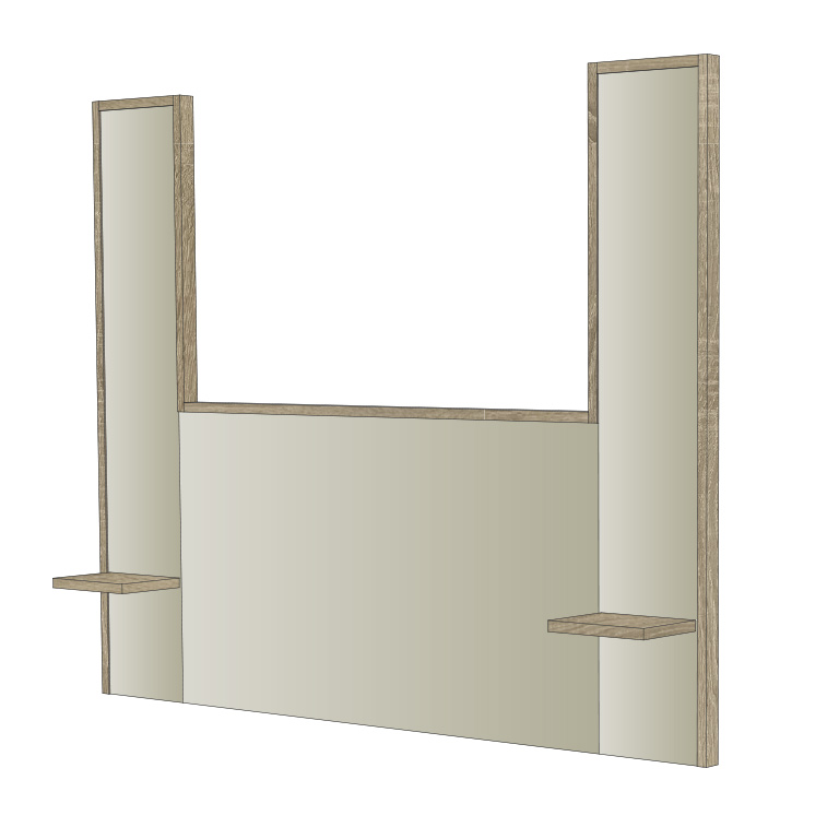 Headboard and open wardrobe for hotel bedrooms and apartments (Zeus Model)