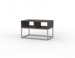 "Urban smoke table with open compartments in ""altea"" finish and aluminium metal structure"
