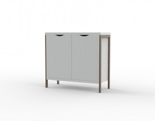 Small cabinet, Urban model, with metal structure and two doors